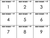 Exit Ticket: Number Identification 1-100 (English version)