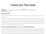 Exit Ticket Out The Door