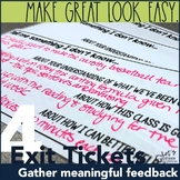 Exit Ticket Out the Door Formative Assessment Template Slips 4-Pack