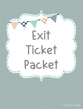 Blank Exit Ticket Packet