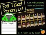 Exit Slip Parking Lot {A Fun Post-Assessment}