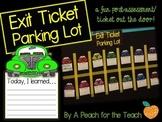 Exit Slip Parking Lot {A Fun Post-Assessment}