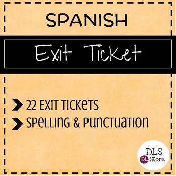 Exit Ticket - Pase de Salida