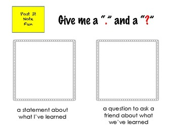 Exit Ticket (Post It Note Fun)