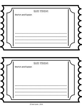 Exit Ticket Printables