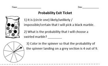 Exit Ticket: Probability