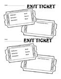 Exit Ticket - Properties of Light
