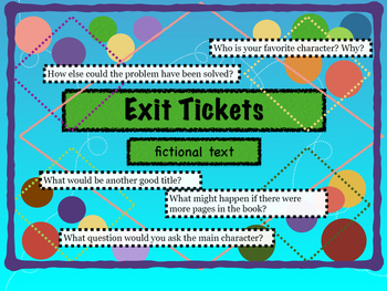 Exit Ticket Questions - Fictional Text