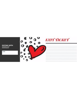Exit Ticket (Red Heart)