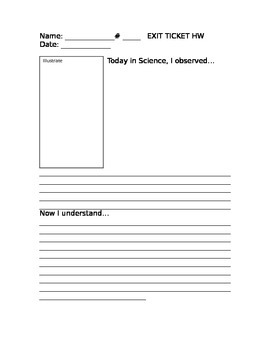 Exit Ticket: Science Lab: Sketch and Explain Observations and Understanding