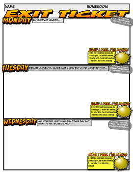 Exit Ticket - Science - Weekly