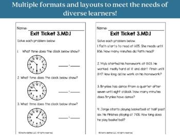 Exit Ticket Bundle 3rd Grade