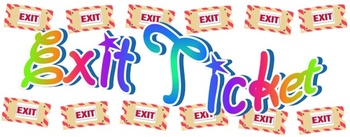 Exit Ticket Sign and Banner