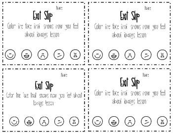 Exit Ticket/Slip
