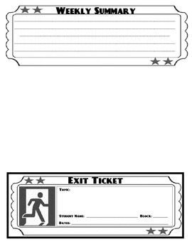 Exit Ticket / Slips