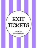 Exit Ticket Slips, Sentence Starters, and Classroom Posters