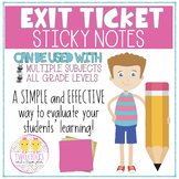Exit Ticket Sticky Notes