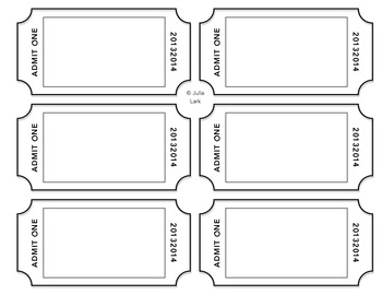 graphic regarding Exit Tickets Printable identified as Exit Ticket Template