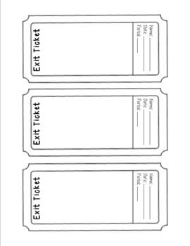 photo about Printable Exit Tickets identify Exit Ticket Template
