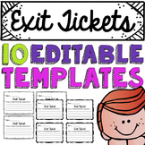 Editable Exit Ticket Template
