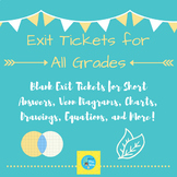 Blank Exit Ticket Template for All Grades