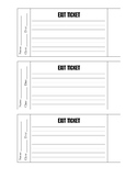 Exit Ticket Template (3 Versions)