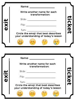 graphic regarding Printable Exit Tickets titled Exit Ticket Template