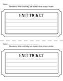 Exit Ticket Template