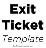 Exit Ticket Template - DOC