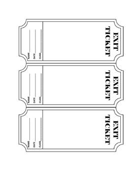 exit ticket template editable by kesler science tpt. Black Bedroom Furniture Sets. Home Design Ideas