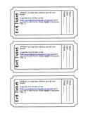 Exit Ticket (Exit Slip)Template (Editable PDF Form)