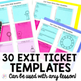 Exit Ticket Sticky Note Templates