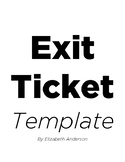 Exit Ticket Template - PDF