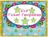 Exit Ticket Templates