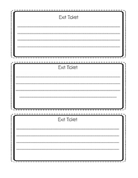 photo about Exit Tickets Printable identified as Exit Ticket Template Worksheets Instruction Materials TpT
