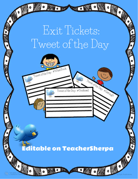 Exit Ticket: Tweet About Your Learning