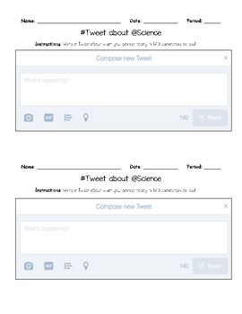 Exit Ticket: Twitter Post