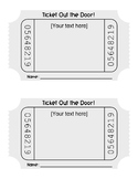 Exit Ticket Word Template