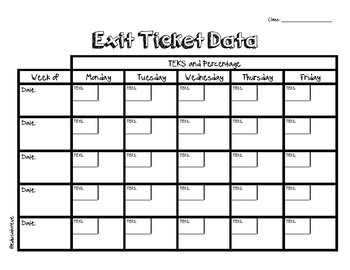 Exit Ticket and Do Now Data Tracker