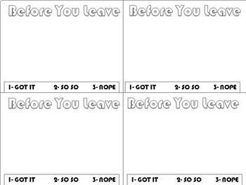 Exit Ticket for ANY SUBJECT! EDITABLE