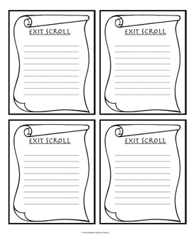 Exit Ticket for History Class