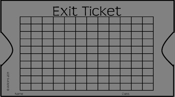 Exit Ticket with Graph Paper