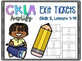 Exit Tickets, 1st Grade, CKLA, Amplify, Skills 2