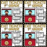 Exit Tickets 1st Grade Math Exit Slips BUNDLE