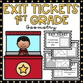 Exit Tickets 1st Grade Math {Exit Slips} Geometry