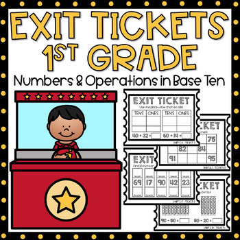 Exit Tickets 1st Grade Math {Exit Slips} Numbers & Operations in Base Ten