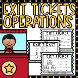 Exit Tickets 1st Grade Math Operations and Algebraic Thinking