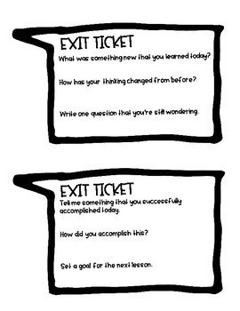 FREEBIE - Depths of Knowledge Exit Tickets