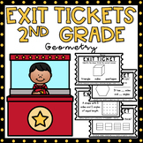 Exit Tickets 2nd Grade Math {Exit Slips} Geometry