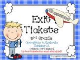Exit Tickets 3rd Grade Math-OA